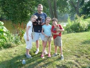 Ainsley, Joe with Sundae, Meghan, and Joseph